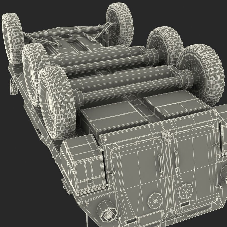 Armored Fighting Vehicle AVGP Grizzly royalty-free 3d model - Preview no. 53