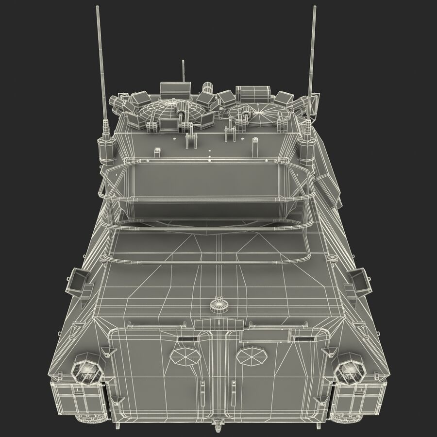 Armored Fighting Vehicle AVGP Grizzly royalty-free 3d model - Preview no. 39