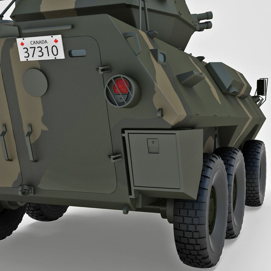 Armored Fighting Vehicle AVGP Grizzly royalty-free 3d model - Preview no. 28
