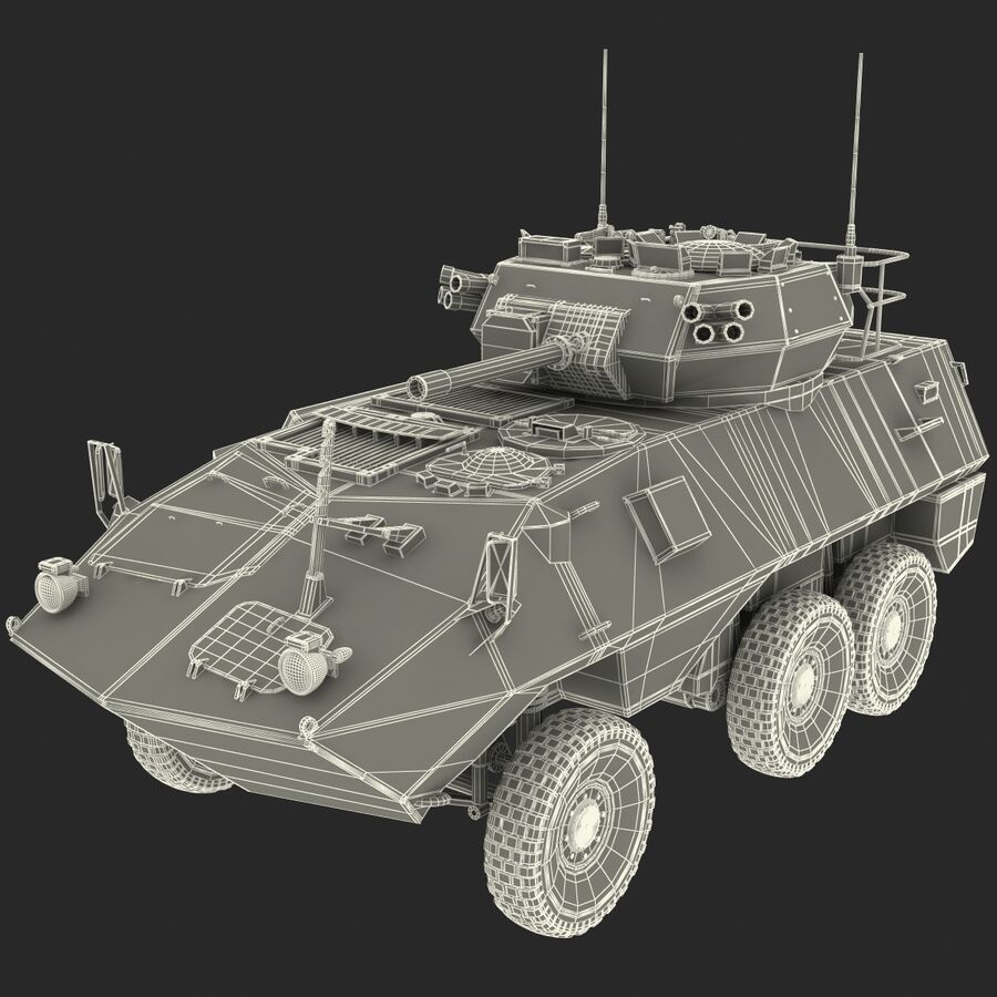 Armored Fighting Vehicle AVGP Grizzly royalty-free 3d model - Preview no. 32