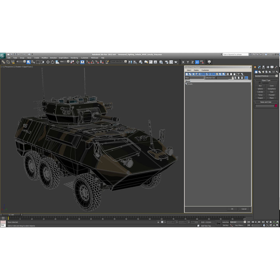 Armored Fighting Vehicle AVGP Grizzly royalty-free 3d model - Preview no. 61