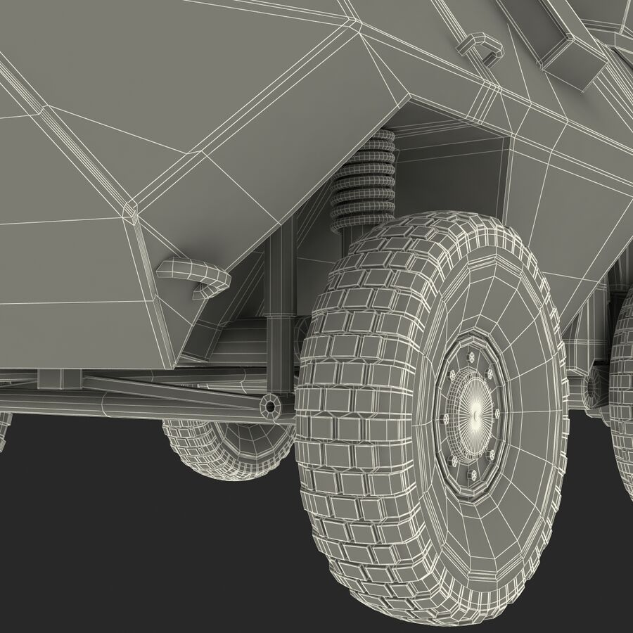 Armored Fighting Vehicle AVGP Grizzly royalty-free 3d model - Preview no. 50