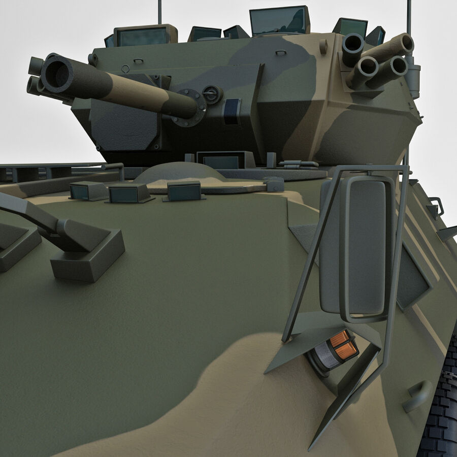 Armored Fighting Vehicle AVGP Grizzly royalty-free 3d model - Preview no. 29