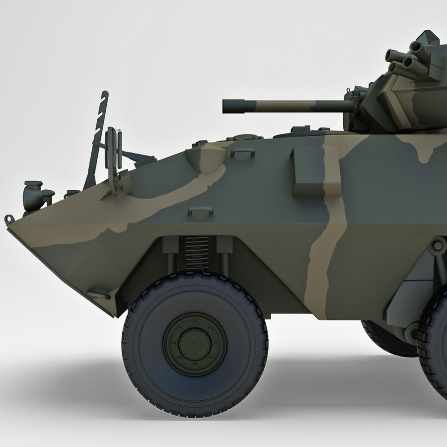 Armored Fighting Vehicle AVGP Grizzly royalty-free 3d model - Preview no. 10