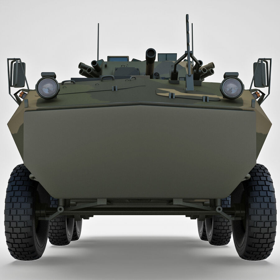 Armored Fighting Vehicle AVGP Grizzly royalty-free 3d model - Preview no. 8