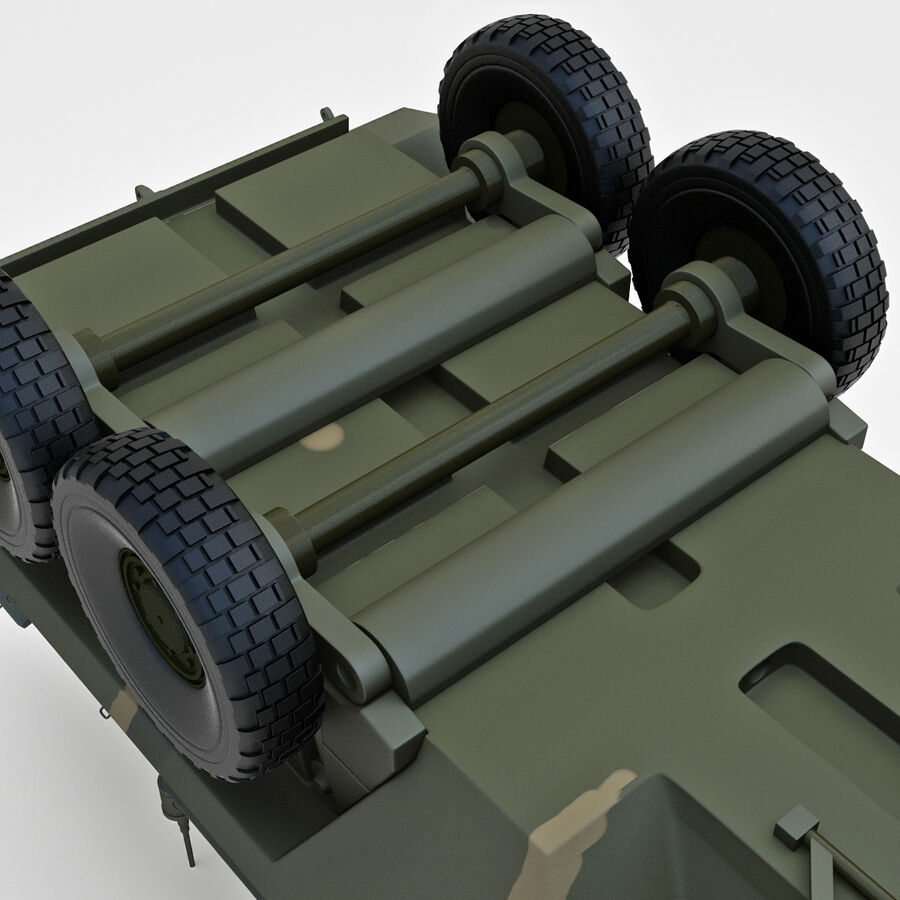 Armored Fighting Vehicle AVGP Grizzly royalty-free 3d model - Preview no. 27
