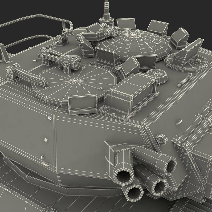 Armored Fighting Vehicle AVGP Grizzly royalty-free 3d model - Preview no. 48