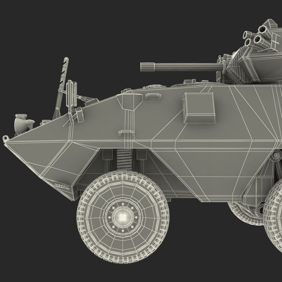 Armored Fighting Vehicle AVGP Grizzly royalty-free 3d model - Preview no. 38