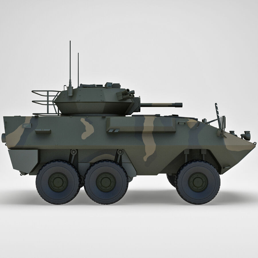 Armored Fighting Vehicle AVGP Grizzly royalty-free 3d model - Preview no. 5