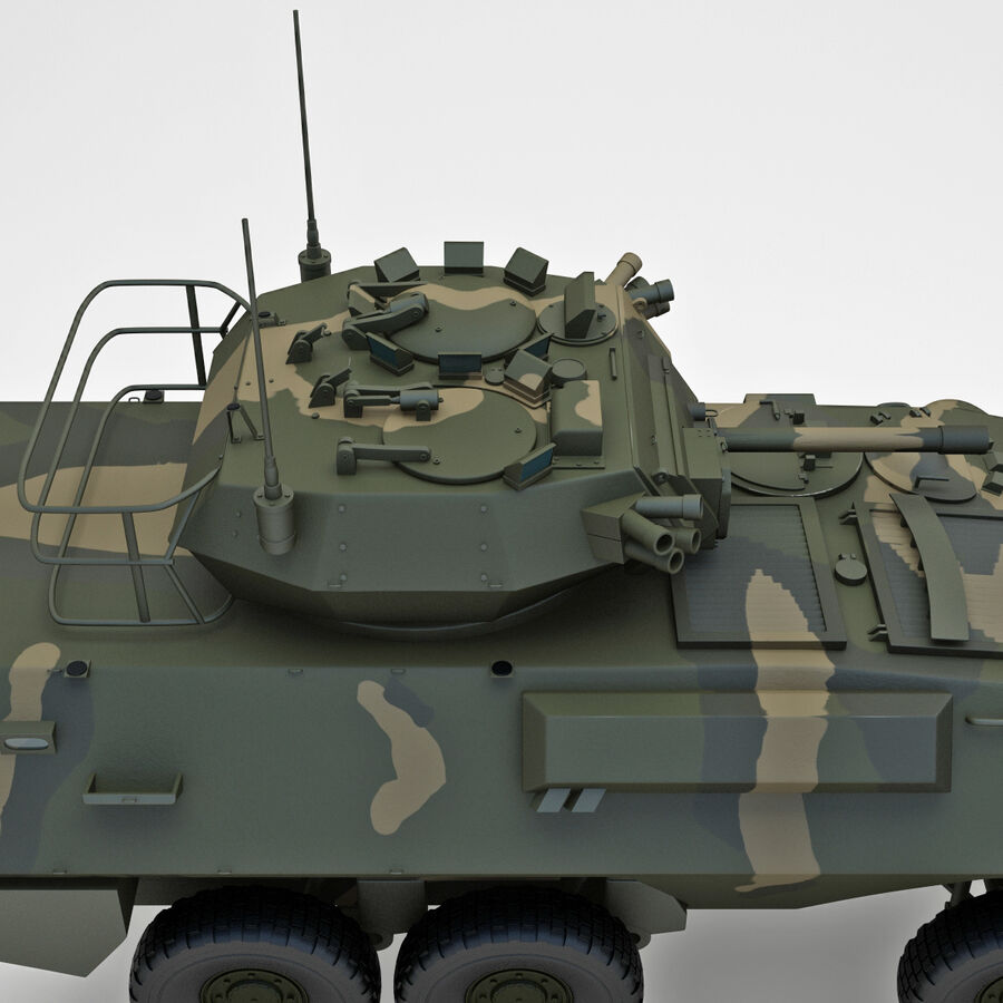 Armored Fighting Vehicle AVGP Grizzly royalty-free 3d model - Preview no. 6