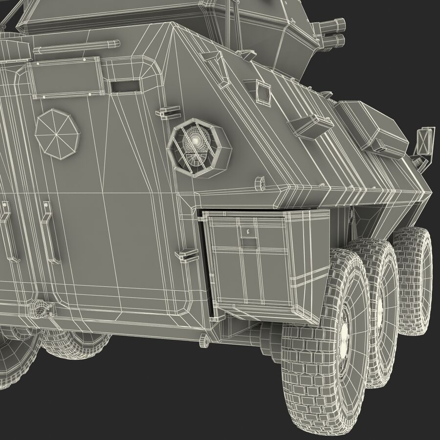 Armored Fighting Vehicle AVGP Grizzly royalty-free 3d model - Preview no. 56
