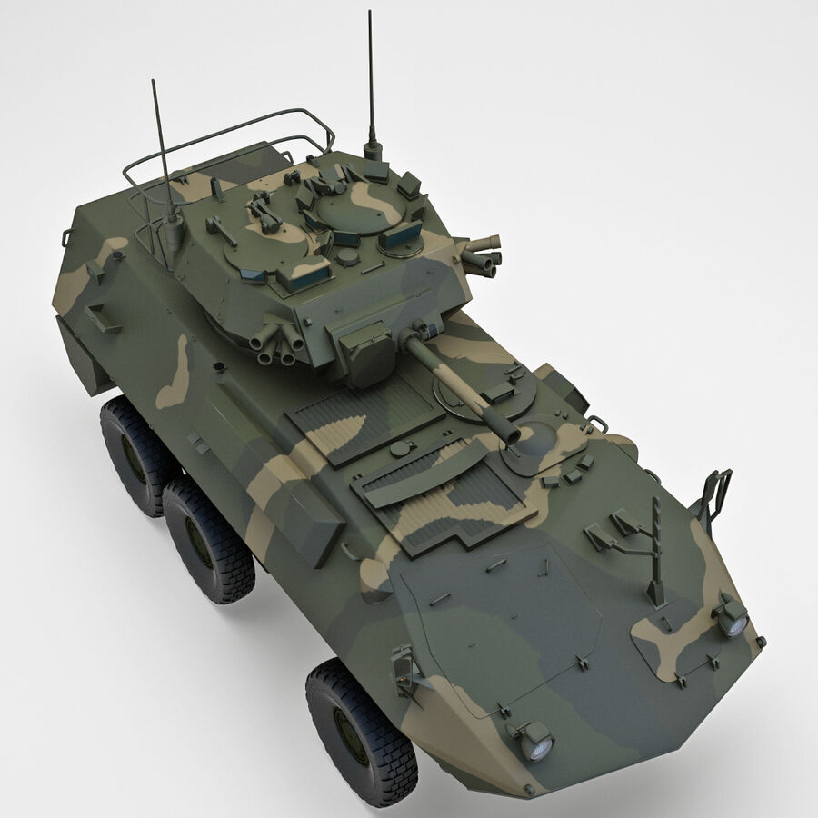Armored Fighting Vehicle AVGP Grizzly royalty-free 3d model - Preview no. 16