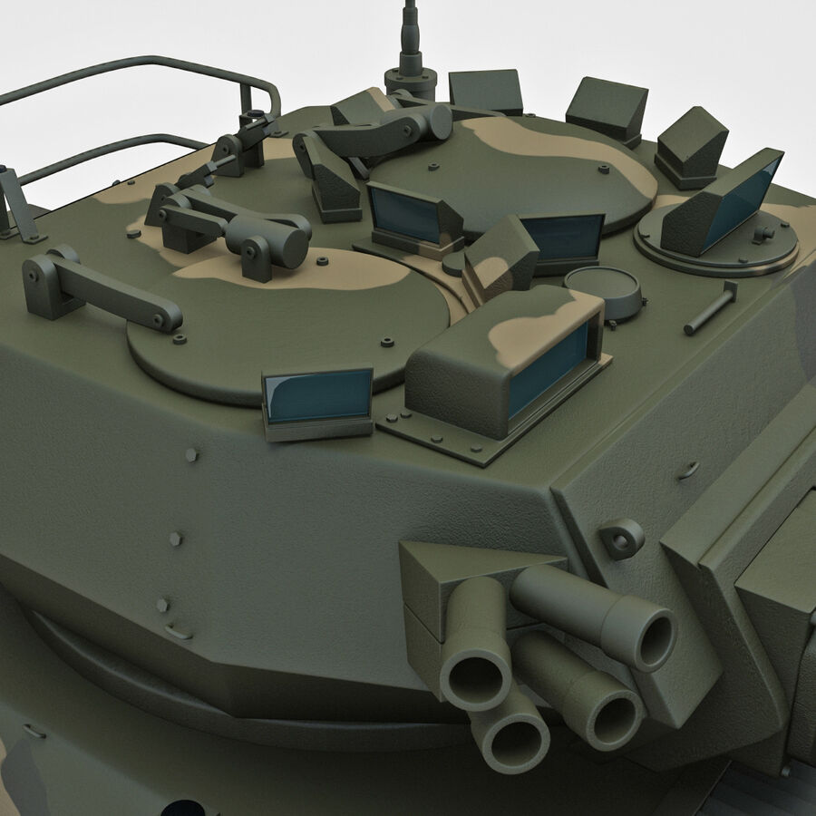 Armored Fighting Vehicle AVGP Grizzly royalty-free 3d model - Preview no. 20