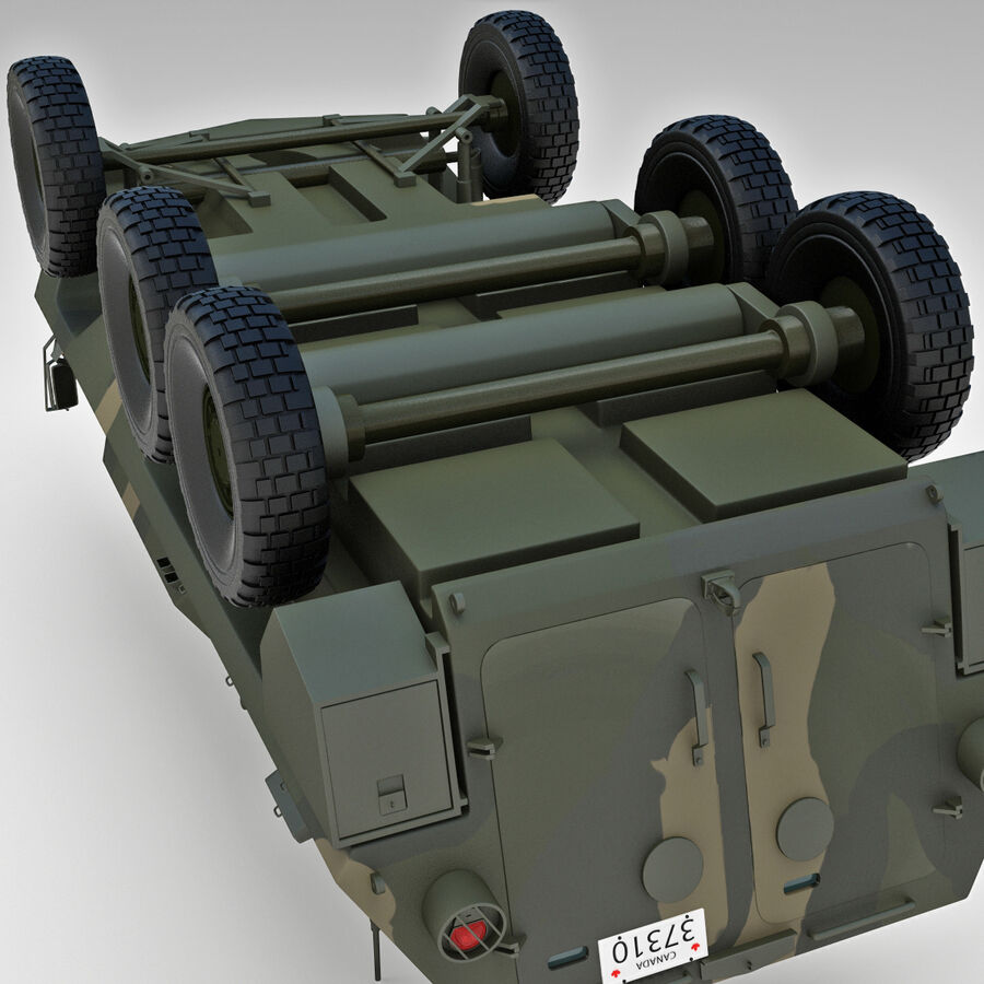 Armored Fighting Vehicle AVGP Grizzly royalty-free 3d model - Preview no. 25