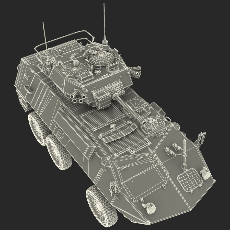 Armored Fighting Vehicle AVGP Grizzly royalty-free 3d model - Preview no. 44