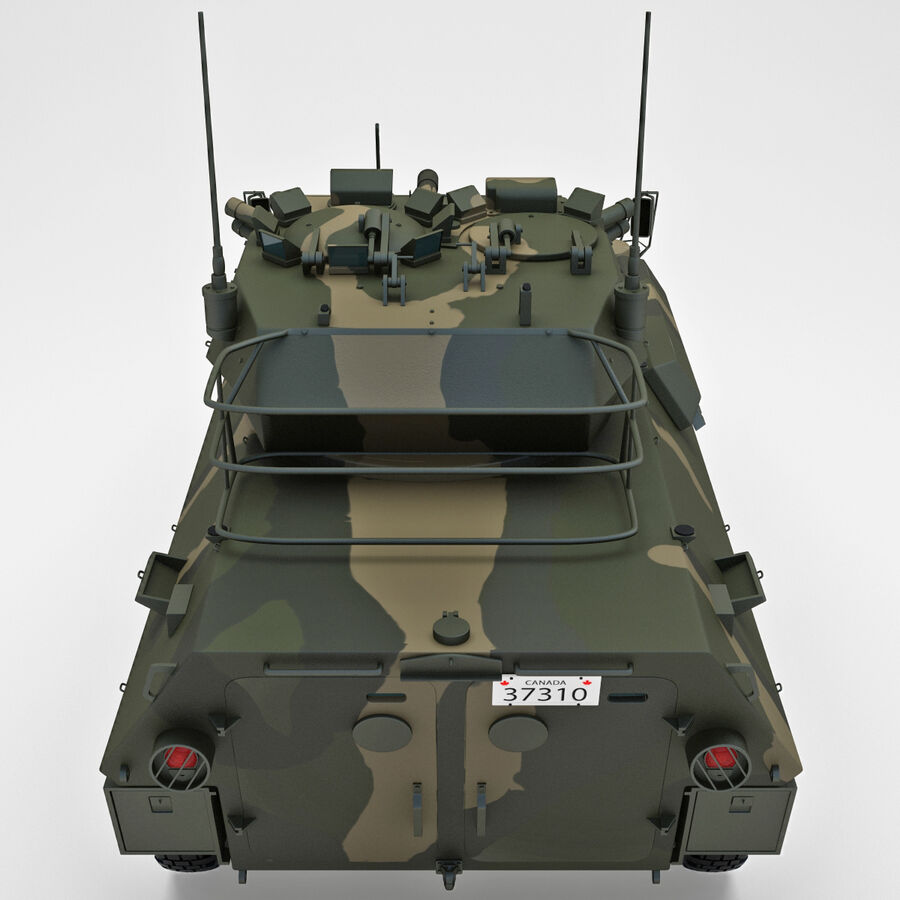Armored Fighting Vehicle AVGP Grizzly royalty-free 3d model - Preview no. 11