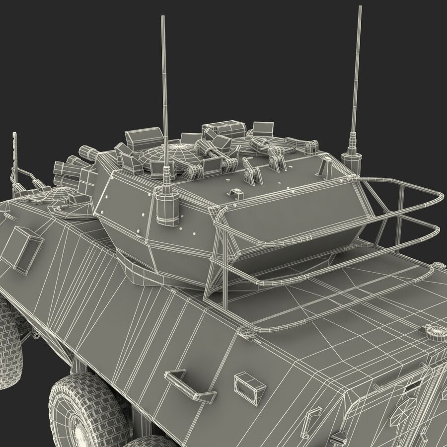 Armored Fighting Vehicle AVGP Grizzly royalty-free 3d model - Preview no. 58