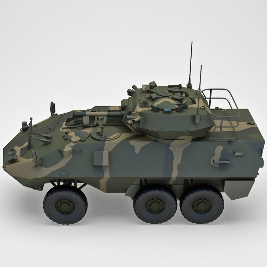 Armored Fighting Vehicle AVGP Grizzly royalty-free 3d model - Preview no. 9