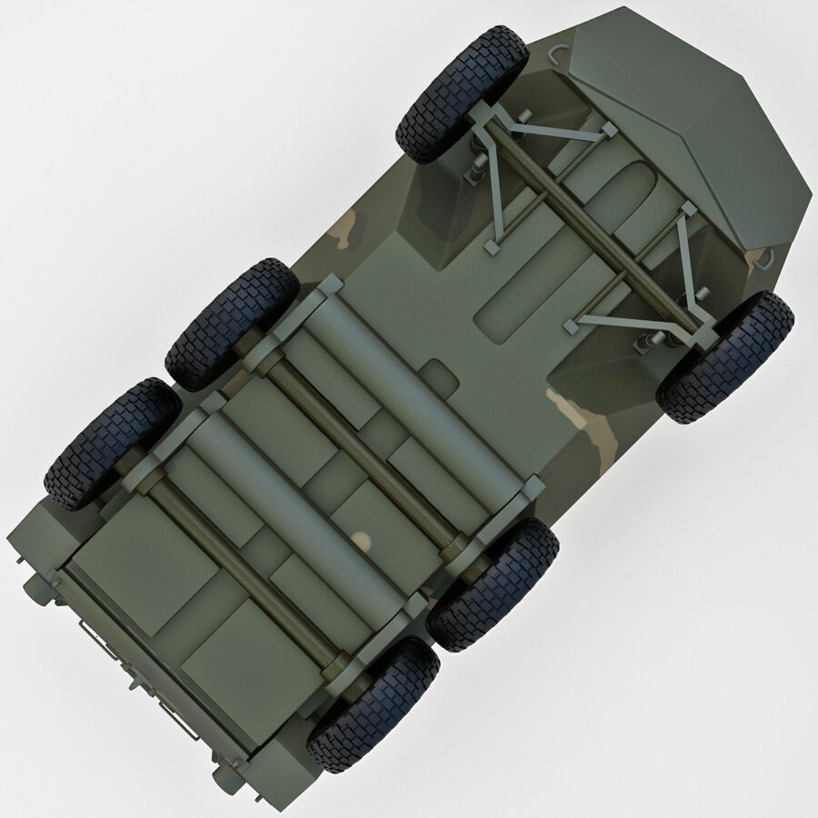 Armored Fighting Vehicle AVGP Grizzly royalty-free 3d model - Preview no. 14