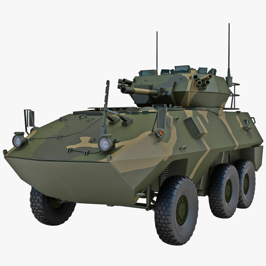 Armored Fighting Vehicle AVGP Grizzly royalty-free 3d model - Preview no. 1