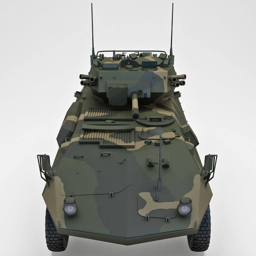 Armored Fighting Vehicle AVGP Grizzly royalty-free 3d model - Preview no. 7