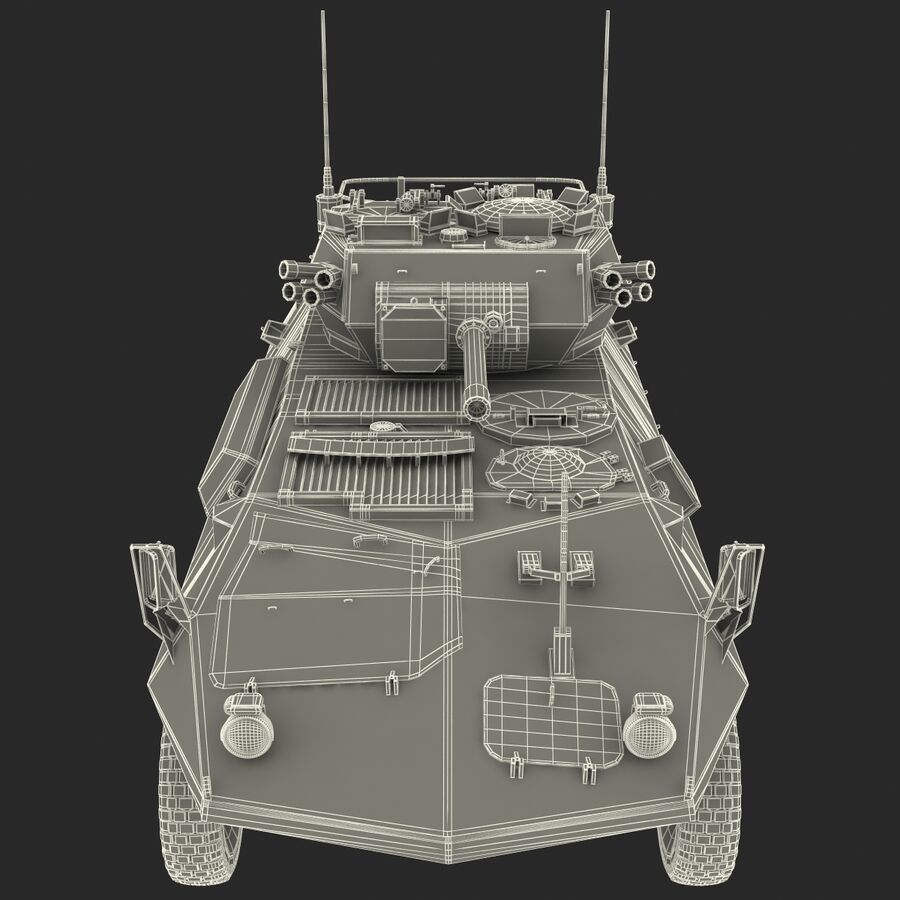 Armored Fighting Vehicle AVGP Grizzly royalty-free 3d model - Preview no. 35