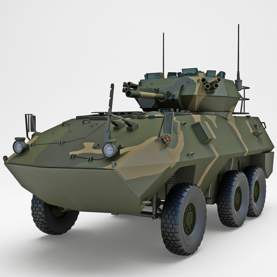 Armored Fighting Vehicle AVGP Grizzly royalty-free 3d model - Preview no. 2