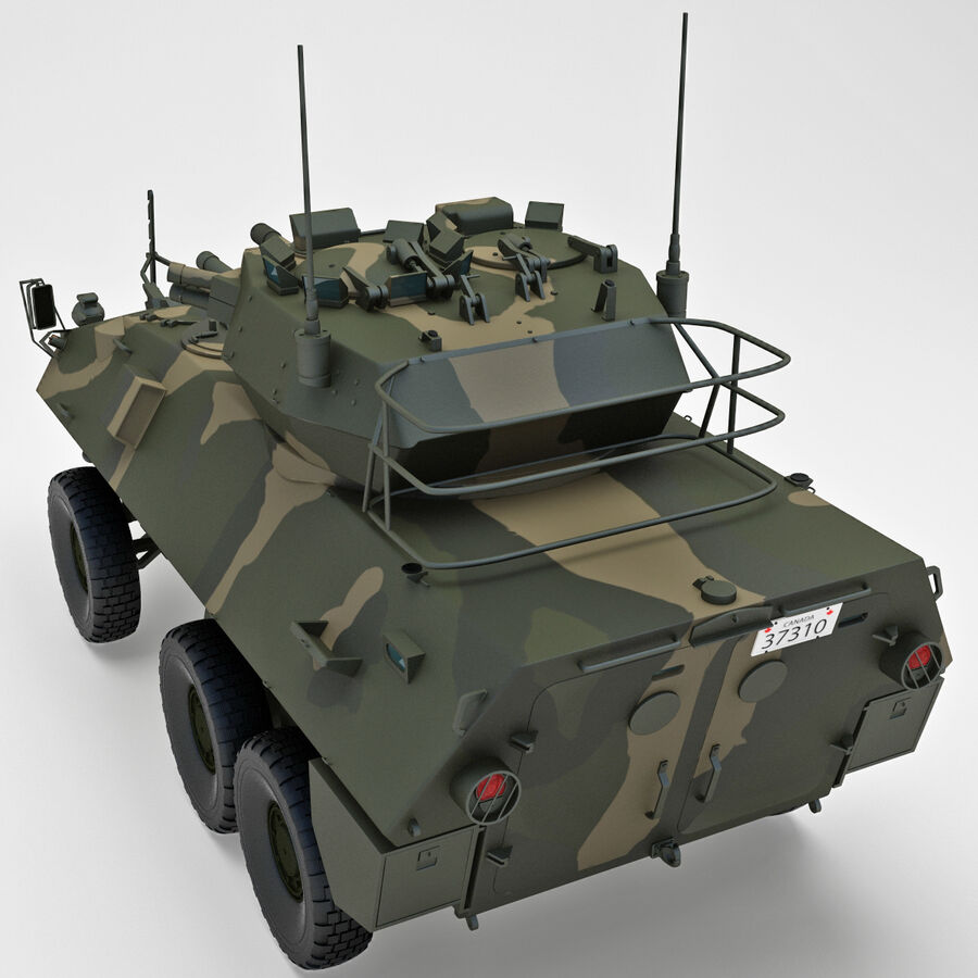 Armored Fighting Vehicle AVGP Grizzly royalty-free 3d model - Preview no. 17
