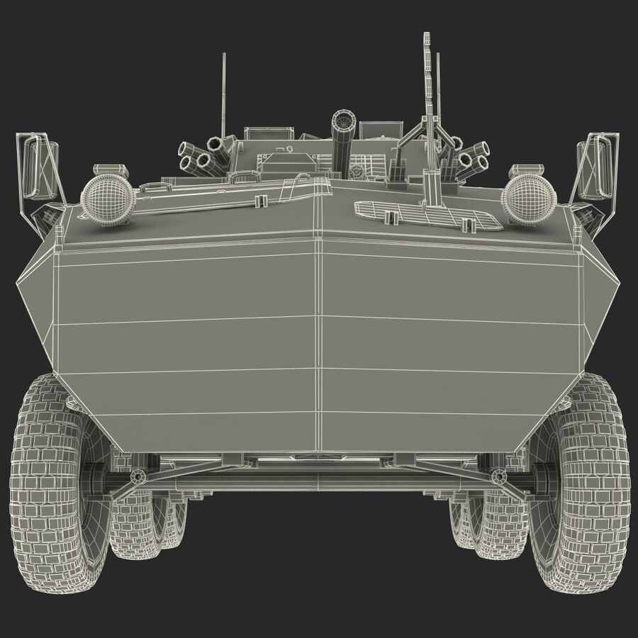 Armored Fighting Vehicle AVGP Grizzly royalty-free 3d model - Preview no. 36