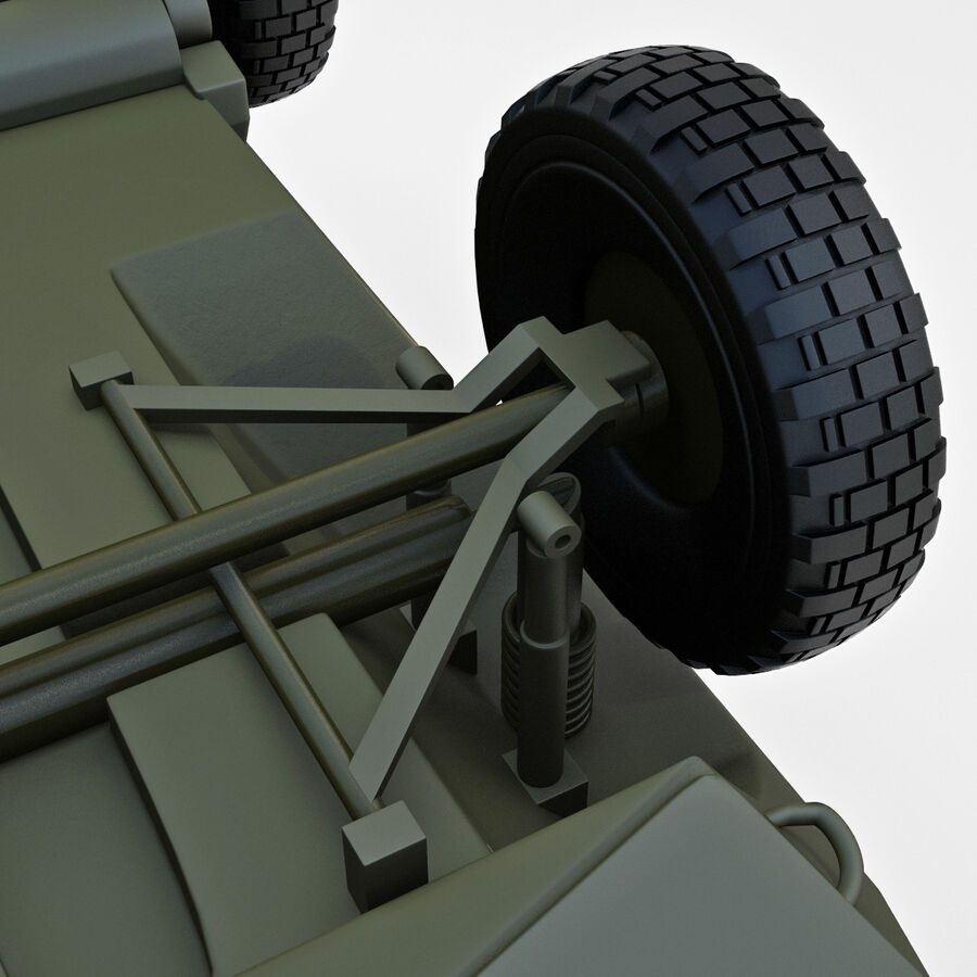 Armored Fighting Vehicle AVGP Grizzly royalty-free 3d model - Preview no. 26