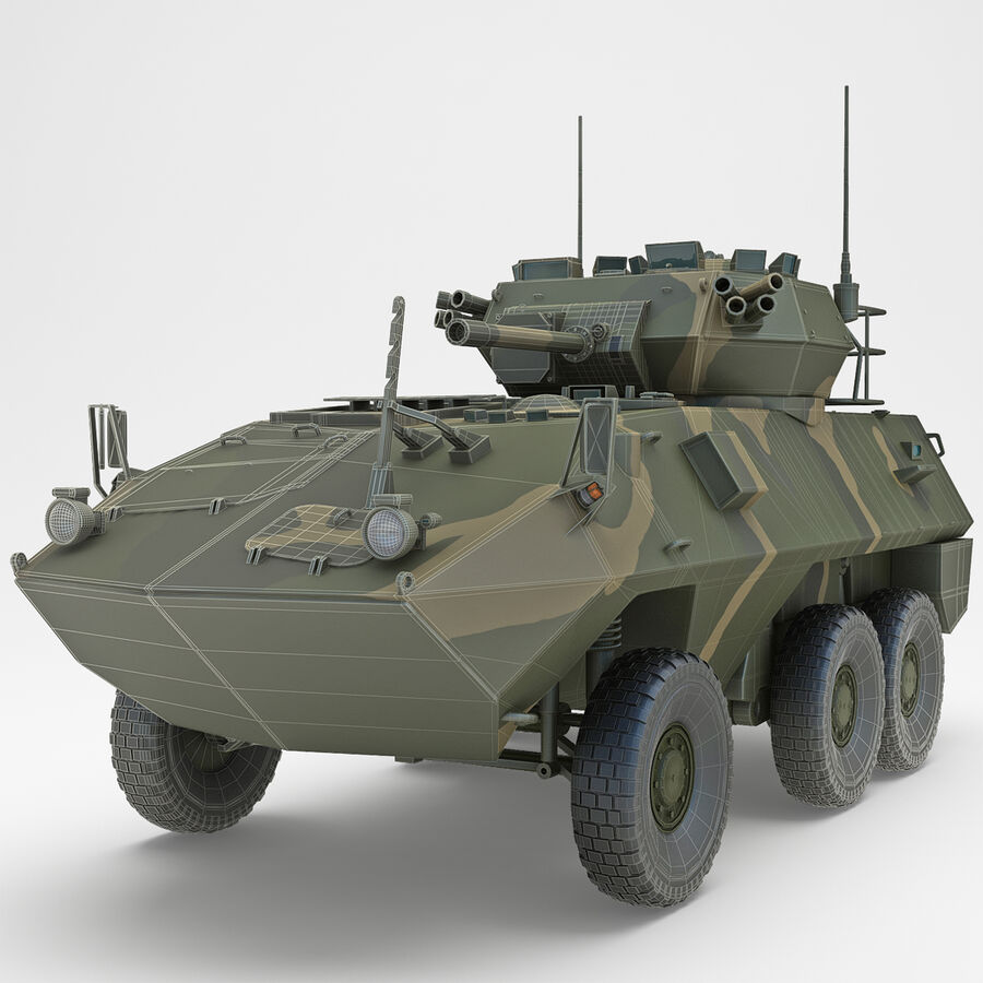 Armored Fighting Vehicle AVGP Grizzly royalty-free 3d model - Preview no. 3