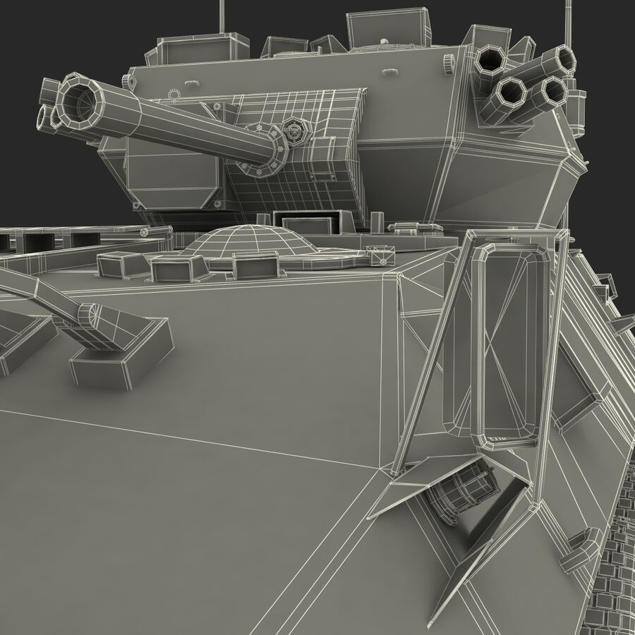 Armored Fighting Vehicle AVGP Grizzly royalty-free 3d model - Preview no. 57