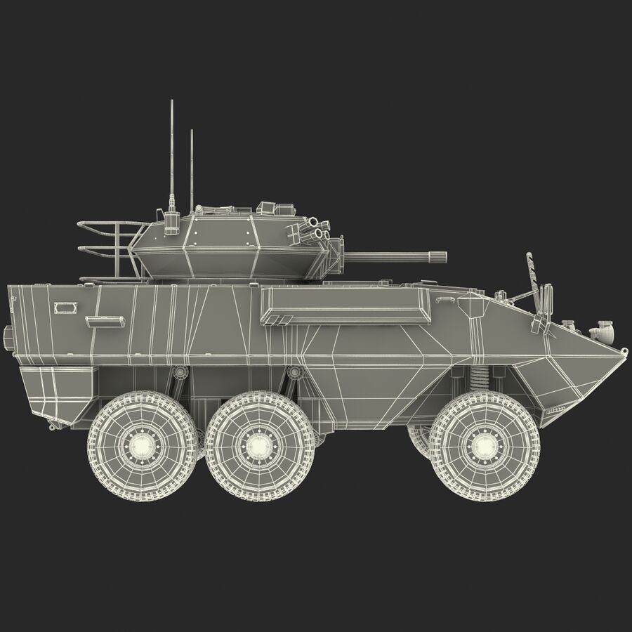 Armored Fighting Vehicle AVGP Grizzly royalty-free 3d model - Preview no. 33