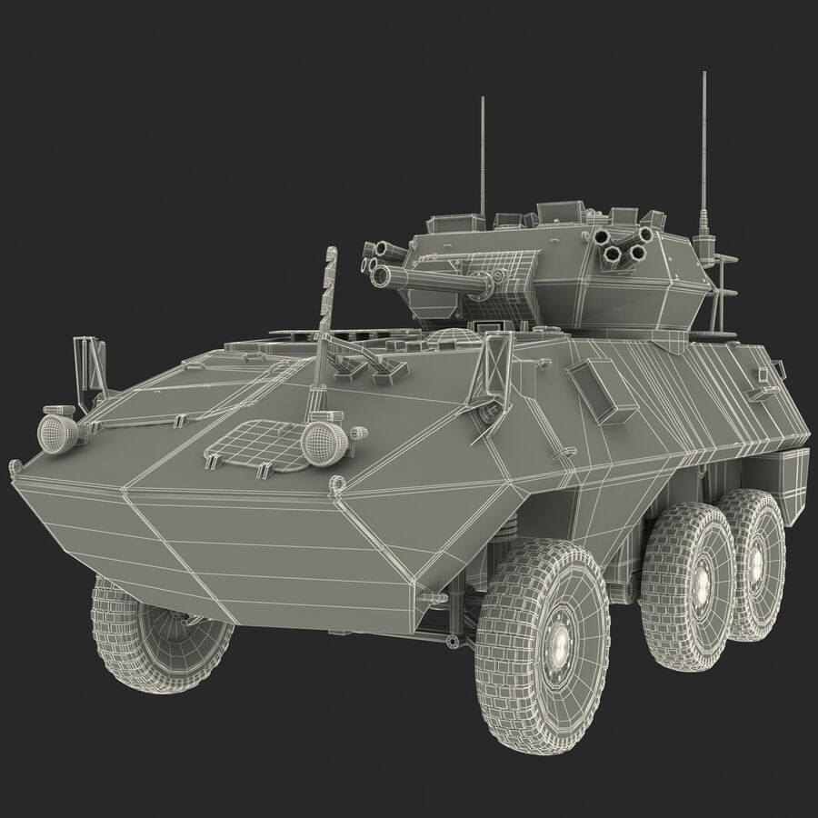 Armored Fighting Vehicle AVGP Grizzly royalty-free 3d model - Preview no. 31