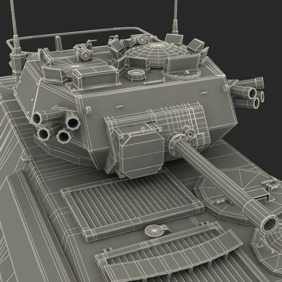 Armored Fighting Vehicle AVGP Grizzly royalty-free 3d model - Preview no. 47
