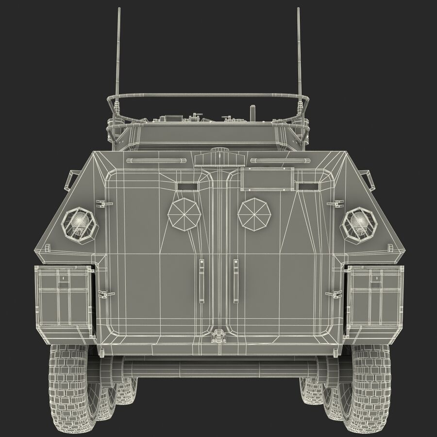 Armored Fighting Vehicle AVGP Grizzly royalty-free 3d model - Preview no. 40