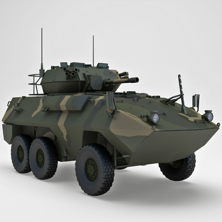 Armored Fighting Vehicle AVGP Grizzly royalty-free 3d model - Preview no. 15