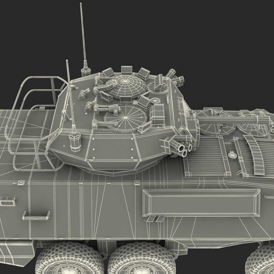 Armored Fighting Vehicle AVGP Grizzly royalty-free 3d model - Preview no. 34