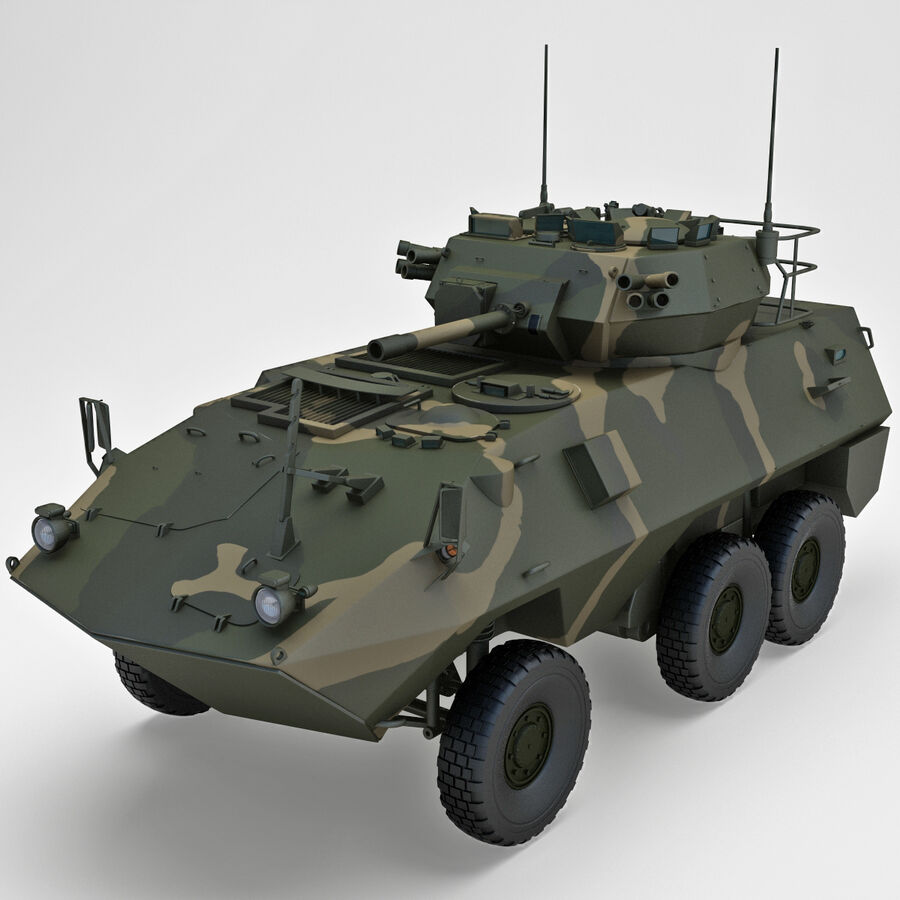 Armored Fighting Vehicle AVGP Grizzly royalty-free 3d model - Preview no. 4
