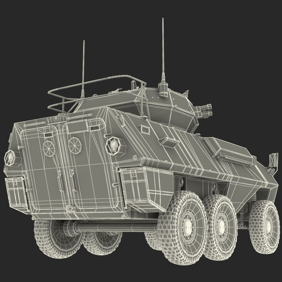 Armored Fighting Vehicle AVGP Grizzly royalty-free 3d model - Preview no. 46