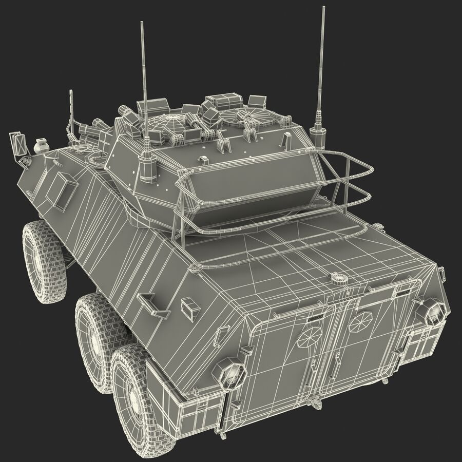Armored Fighting Vehicle AVGP Grizzly royalty-free 3d model - Preview no. 45