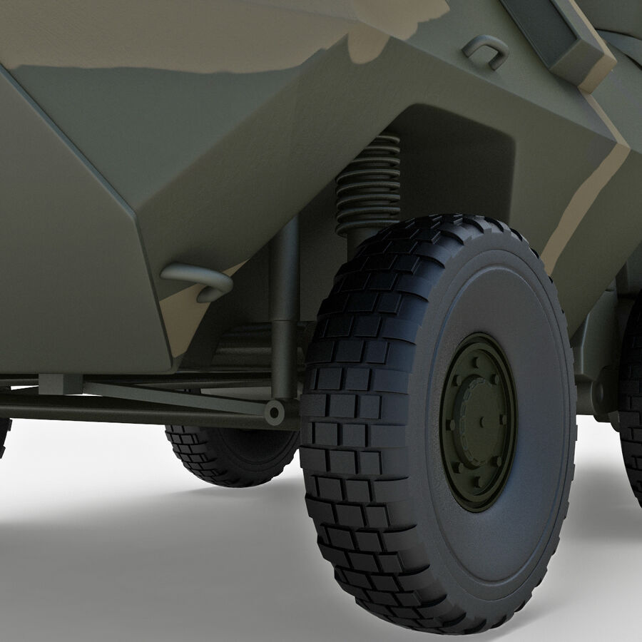 Armored Fighting Vehicle AVGP Grizzly royalty-free 3d model - Preview no. 22