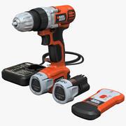 Drill Black and Decker LDX112C Set 3d model