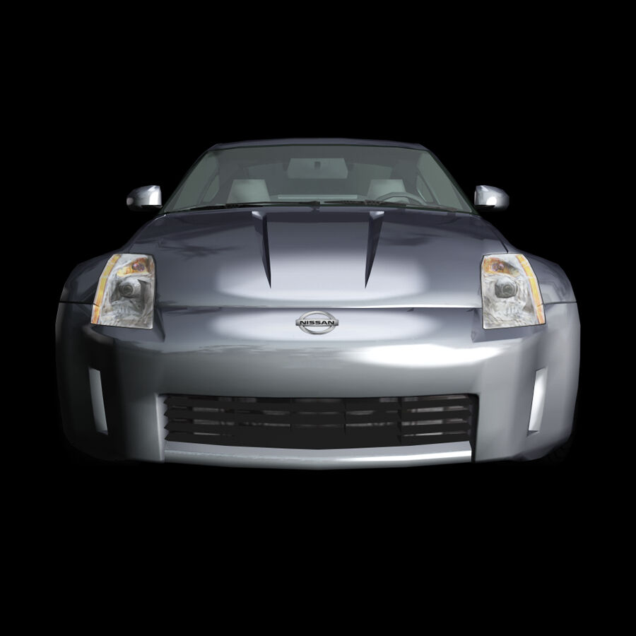 Nissan 350Z royalty-free 3d model - Preview no. 5