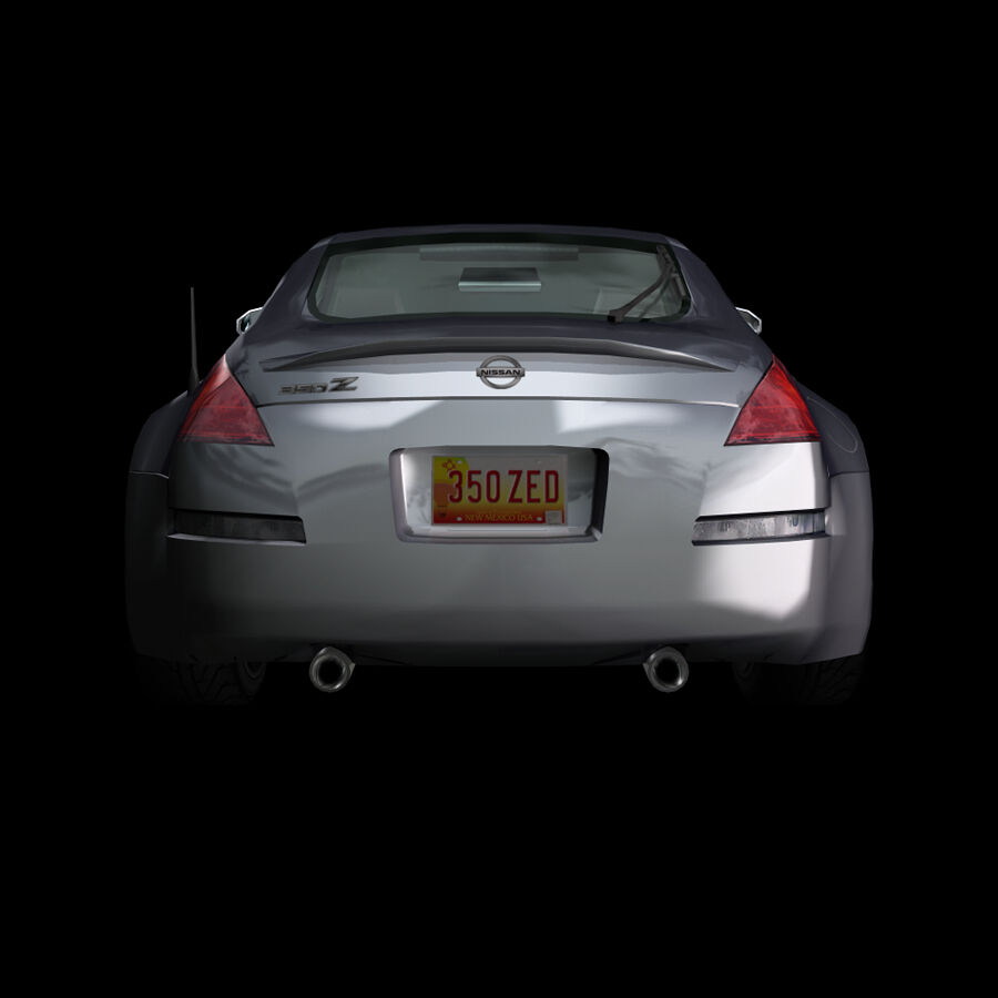 Nissan 350Z royalty-free 3d model - Preview no. 7