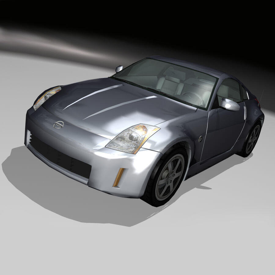 Nissan 350Z royalty-free 3d model - Preview no. 2