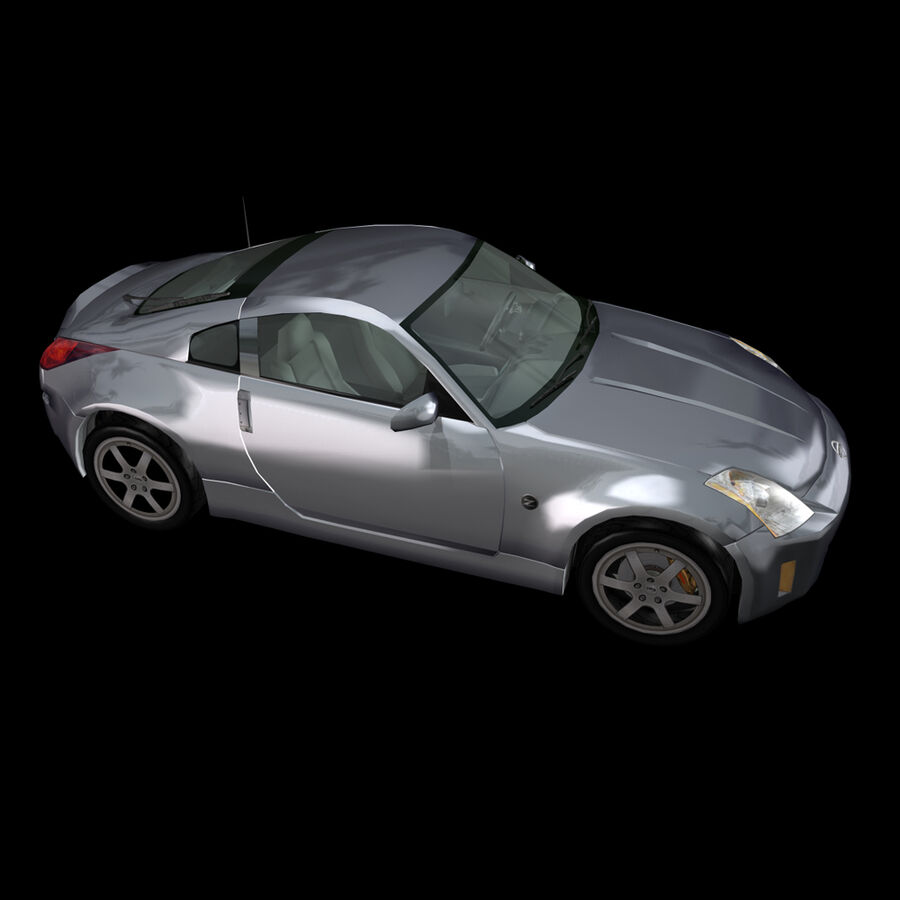 Nissan 350Z royalty-free 3d model - Preview no. 6