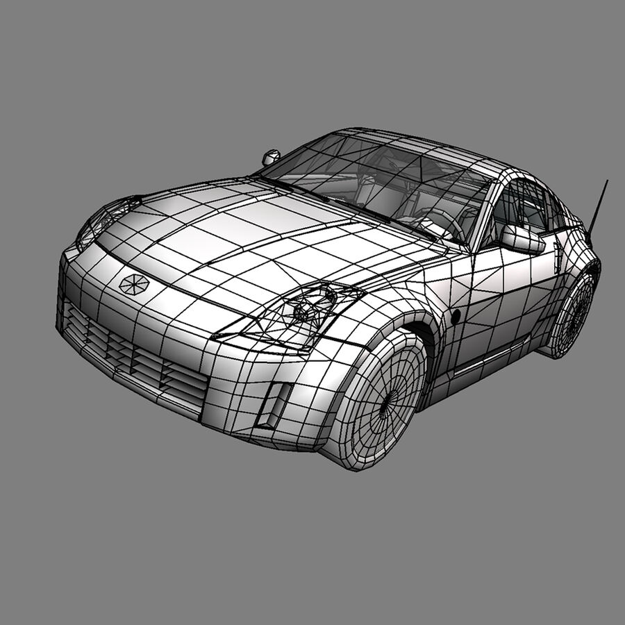 Nissan 350Z royalty-free 3d model - Preview no. 3