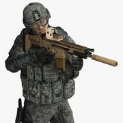 米軍兵士セット1 3d model