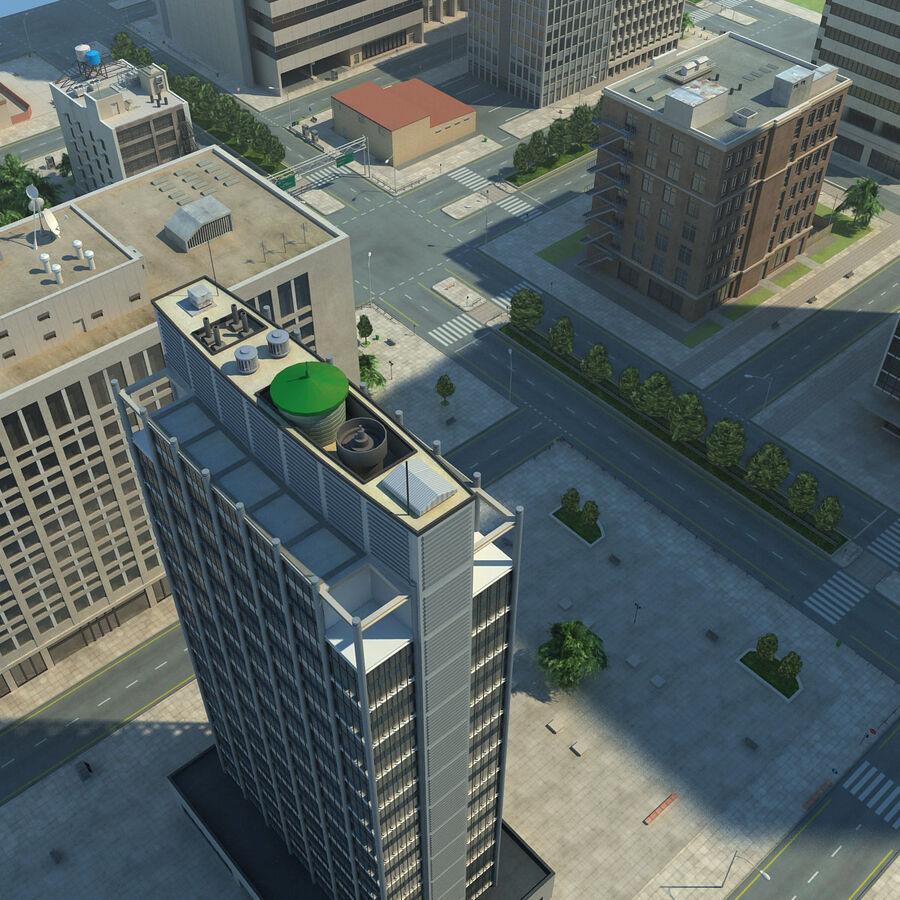 Город HD Городской пейзаж с шоссе royalty-free 3d model - Preview no. 24